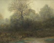 "William A. Knapp, ""Untitled (Colorado River)"", oil, c. 1900"