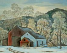 "William Sanderson, ""End of Winter (Colorado)"", oil on canvas, c. 1975"