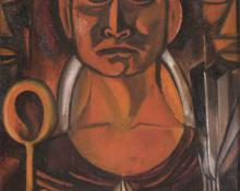 "Marjorie Lee Eaton, ""Taos Ceremony"", oil, c. 1928-1932"