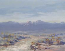 "Maude Leach, ""The Rockies"", watercolor, c. 1915"