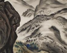 """Vance Hall Kirkland, """"Snow in the High Country, #18"""", watercolor on paper, 1942"""