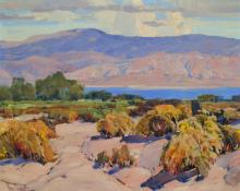 "Paul Lauritz, ""Mono Lake (California)"", oil on linen, c. 1935"