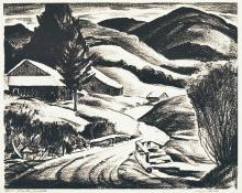 "Alfred James Wands, ""Winter 5/100"", lithograph, c. 1940"