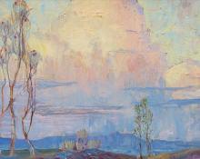 "Charles Ragland Bunnell, ""Untitled (Colorado Landscape)"", oil, 1925"