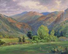 """William Henry Bancroft, """"Untitled (Cheyenne Canyon, Colorado Springs, CO)"""", oil, c. 1920"""