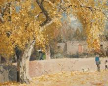 """Fremont Ellis, """"Old Cottonwood Tree"""", oil on canvas, 1970"""