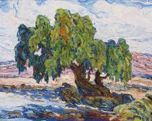 "sandzén, Sven Birger Sandzen, ""Old Willows"", oil on canvas, c. 1925"