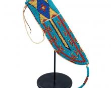 Plains Indian Beaded Knife Sheath, Sioux, 19th Century For Sale David Cook Galleries Denver Colorado art gallery museum