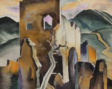 """Alfred James Wands, """"Untitled"""", watercolor on paper, c. 1935"""