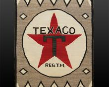 """Texaco"" Pictorial Weaving, Navajo, circa 1930"