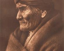 "Edward Sheriff Curtis, ""Geronimo - Apache"", photogravure, 1907"