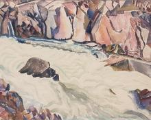 "Helen Katharine Forbes, ""Rock Bound Pool"", watercolor, c. 1930"