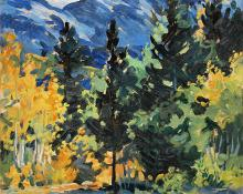 "Adma Green Kerr, ""Untitled (Early Autumn, Colorado)"", oil, c. 1930"