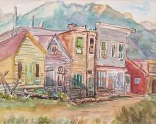 "Zola Zaugg, ""St. Elmo (Colorado)"", watercolor on paper, c. 1940"