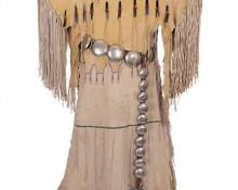Plains indian dress kiowa native american antique vintage 19th century