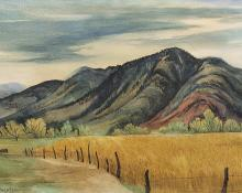 "Ethel Magafan, ""Wheat Field"", watercolor, 1941"