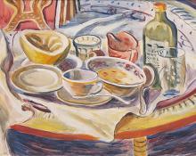 "Frederick Shane, ""Untitled (Still Life)"", mixed media, 1930"