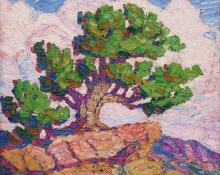"Sven Birger Sandzen, ""Garden of the Gods"", oil, 1924"