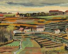 "Adolf Arthur Dehn, ""Untitled"", mixed media, circa 1925 fine art painting for sale"