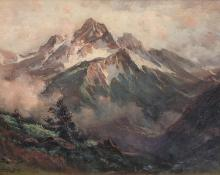 "Charles Partridge Adams, ""San Juan Mountains, Colorado"", oil, c. 1900"