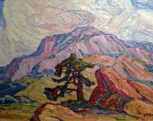 "Sven Birger Sandzen, ""Foothills Manitou Springs"", oil"