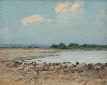 """Robert Wesley Amick, """"Untitled (Landscape)"""", oil"""
