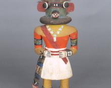 Payik-ala Three-Horned Kachina, Hopi, circa 1930  for sale purchase consign auction art gallery museum denver