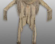 War Shirt, Kiowa, circa 1880, hide fringe 19th century antique american indian clothing
