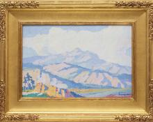 "Sven Birger Sandzen, ""Untitled (Colorado)"", oil, c. 1915"