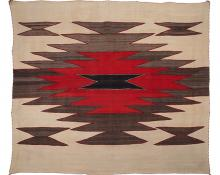 Navajo trading post regional area rug textile wall hanging antique vintage