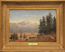"Jerry Malzahn, ""Longs Peak (Colorado)"", oil, 2010 for sale purchase consign auction denver Colorado art gallery museum"