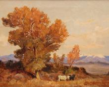 "Fremont Ellis, ""Untitled"", oil, circa 1930 new mexico"
