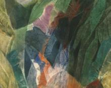 "Ethel Magafan, ""Rocky Gorge"", watercolor, circa 1955 woodstock artist colorado landscape modernism abstract tempera"