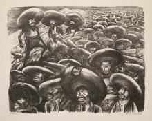 """Jose Clemente Orozco, """"Zapatistas"""", lithograph, 1935"""
