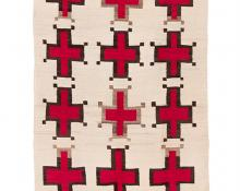 Trading Post Rug, Navajo, circa 1900 spider woman cross for sale purchase consign auction art gallery museum denver