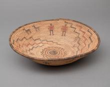 Basketry Tray, Apache, circa  1890  for sale purchase consign auction art gallery museum denver