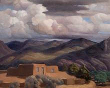 "Anna Elizabeth Keener, ""A Northern New Mexico Home"", oil, 1965"