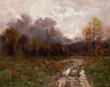 "Charles Partridge Adams, ""The Silver Lining (Colorado)"", oil, 1894"