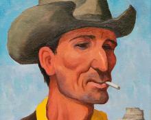 """William Sanderson, """"The Hombre"""", oil, circa 1980"""