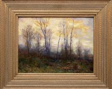 "Charles Partridge Adams, ""Chill, October - near Denver, Colorado"", oil painting, circa 1900 for sale purchase buy consign denver colorado art gallery museum auction"