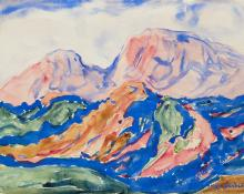 """Birger Sandzen, """"Untitled"""", watercolor, circa 1925 painting for sale purchase auction consign denver colorado art   gallery museum"""