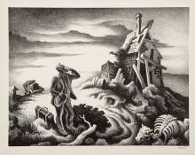 "Thomas Hart Benton, ""The Prodigal Son (edition of 250)"", lithograph, 1939"