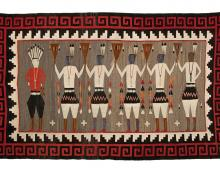 Pictorial Weaving, Navajo, circa 1930 for sale purchase consign auction denver Colorado art gallery museum