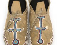 Moccasins, Kiowa, last quarter of the 19th century Native American Indian antique vintage art for sale purchase auction consign denver colorado art gallery museum