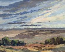 "Anna Elizabeth Keener, ""Mesa Land"", oil painting for sale purchase consign auction art gallery denver colorado historical sandzen student"