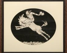 Walt Kuhn Sun Valley Rodeo Idaho art painting drawing poster