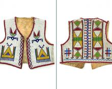 Vest (Child's), Sioux, last quarter of the 19th century 19th century Native American Indian antique vintage art for sale purchase auction consign denver colorado art gallery museum