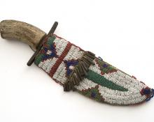 Knife & Sheath, Sioux, circa 1890 19th century Native American Indian antique vintage art for sale purchase auction consign denver colorado art gallery museum
