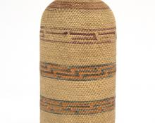 basketry Bottle, Micmac, circa 1920 19th century Native American Indian antique vintage art for sale purchase auction consign denver colorado art gallery museum