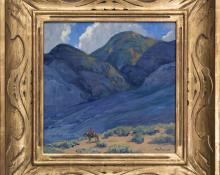 "John Modesitt, ""Near Taos (New Mexico)"", oil, contemporary fine art painting for sale purchase buy sell consign auction denver colorado art gallery museum auction old vintage historic"